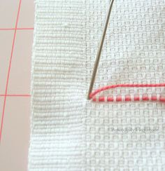 Serendipity Handmade: Swedish Weaving Vintage Towel Tutorial - Part One