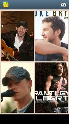 Top left Buddy Brown. Top right Luke Bryan. Bottom Left Jordan Rager. Bottom right Brantley Gilbert. Thes are just my favorite singers!!!!!