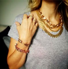 Steal this rose gold layering look from @the_jewellery_maven today! #stelladotstyle