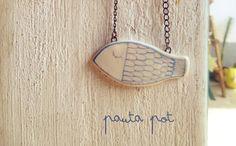 """Ciondolo collana """"pescetto"""" in ceramica di Pauta Pot su DaWanda.com"""
