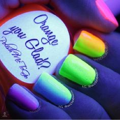 Neon nail design. That is so cool:)