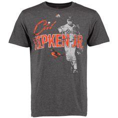 MLB Cal Ripken Jr. Baltimore Orioles Majestic Cooperstown Emotion Evoked T-Shirt - Charcoal