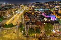 stuttgart city by night II by Wolfgang Simm on 500px