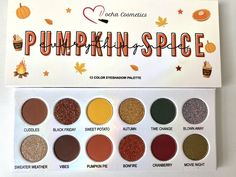 Indie Makeup, Pumpkin Spice, Cruelty Free, Spices, Palette, Eyeshadow, Sweet, Candy, Spice