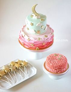 Twinkle Twinkles Little Star Party Cake - Adorable decorating idea!