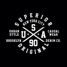 Superior, new york city, brooklyn, typography design for t shirt,vector illustration T Shirt Logo Design, Graphic Design Typography, Shirt Designs, Badge Design, Text Design, Shirt Label, Maori Designs, Quote Posters, Graphic Tees