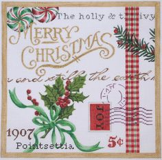 Kate Dickerson Needlepoint Christmas collage #2