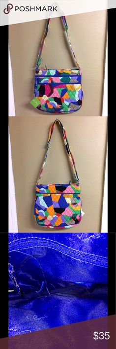 Vera Bradley Pop Art Triple Zip Hipster NWT The Triple Zip Hipster has an adjustable strap with a silver buckle. There are three large compartments and the exterior back has a large slip in pocket. The in has a zippered pocket. This comes from a smoke free and pet free home! Vera Bradley Bags Crossbody Bags