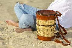 Basket Leather Backpack - Mosaic - Greek Designers - Made in Greece - Naxos Island - Cyclades of Greece - Boat Photography - Sandy Beach - Sunset - Summer Outfits - Spring Summer Collection - Brown Bag