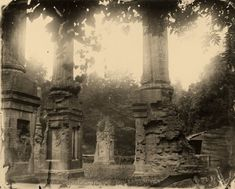 """""""Deep South, Untitled (#9),"""" 1998. The ruins of the Civil War-era Windsor mansion, graced by a heart-shaped leaf in the center. Credit Sally Mann/Virginia Museum of Fine Arts.  Sally Mann's Haunted South - The New York Times"""