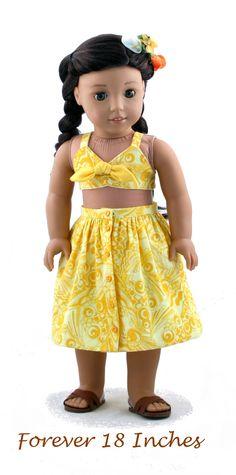 A vintage Playsuit Skirt for Nanea!  Coming soon to PixieFaire.com....