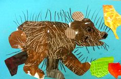 Brown bear, brown bear what do you see? art project to go with literature.