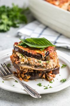 This Vegan Eggplant Lasagna is free from Gluten, Dairy, and Grains, but not on flavor! A hearty, healthy, and cozy dinner option. #vegan #glutenfree #eggplantlasagna #plantbased #grainfree #veganlasagna #dairyfree | frommybowl.com