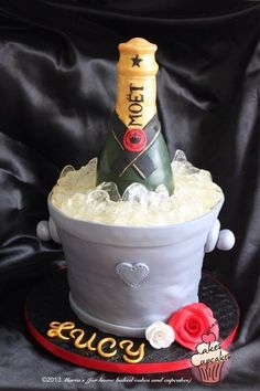 Champagne bottle cake Cake by Maria18