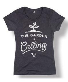 Look at this #zulilyfind! Heather Charcoal 'The Garden Is Calling' Scoop Neck Tee #zulilyfinds