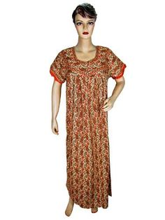 Womens Kaftan- Printed Orange Cotton Caftan Cap Sleeve Resort Wear Long Dress Mogulinterior, http://www.amazon.com/gp/product/B009C46SG0/ref=cm_sw_r_pi_alp_0a1vqb0XDFX9M