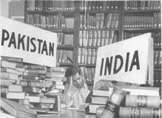 During the Partition of India, a librarian divides the books between two piles. The partition led to the creation of the Dominion of Pakistan and the Union of India on August 1947 and includ… Rare Pictures, Rare Photos, Old Photos, History Of Pakistan, India And Pakistan, Delhi India, 1947 India, Vintage India, British History