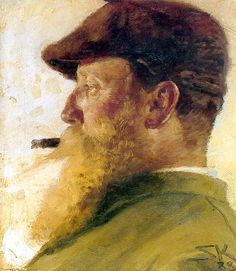 Krohg, Christian (1852-1925) - 1888 Self-Portrait (Private Collection)