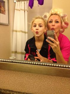 "Chloe and her ""dance mom"""