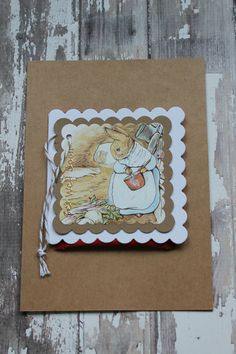 Beatrix Potter Get Well Tea Card by AllOnAHeartString on Etsy