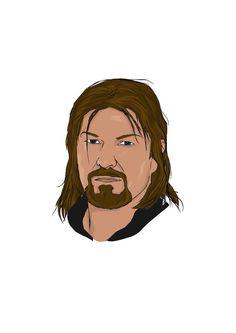 dessin portrait de Sean Bean, ( Boromir, Ned Stark ...)