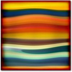 Trademark Fine Art Fury Sea 1 inch Canvas Art by Amy Vangsgard, Size: 24 x 24, Multicolor