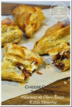 Cheese and Chorizo turnovers
