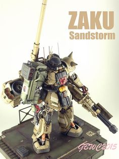 Custom Build: MG 1/100 Zaku II Sandstorm + Diorama - Gundam Kits Collection News and Reviews