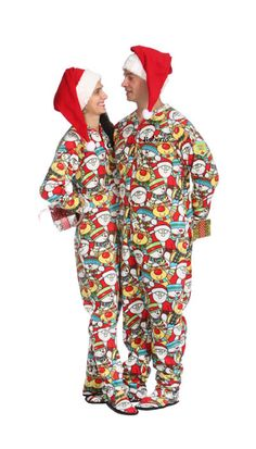 santas on his way adult footed pajama christmasfootedpajamasforadults family set matching christmas pajamas