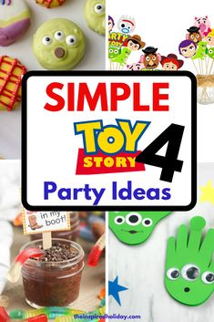 Simple Toy Story 4 Party ideas that will help bring your theme to life. Are you planning a Toy Story 4 theme birthday? Here are all the best ideas, crafts, decor and recipes to help you plan the ultimate Toy Story 4 themed birthday. Birthday Activities, Birthday Party Games, 4th Birthday Parties, Birthday Party Decorations, Birthday Ideas, Birthday Favors, Birthday Celebration, Toy Story Party, Toy Story Theme