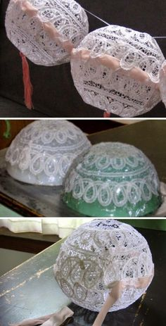 80+ Construction - Decorations with doilies-LACES | THE SOULOUPOSE