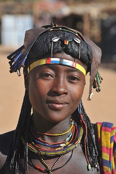 Africa |  Woman near Oncocu, south of Angola |
