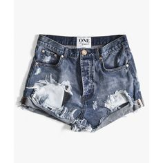 One Teaspoon Ford Outlaws ($85) ❤ liked on Polyvore featuring shorts, long shorts, ripped short shorts, cuffed shorts, torn shorts and distressed shorts