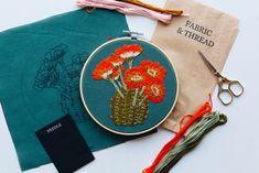 by Walker Boyes Embroidery Kits, Bloom, Orange