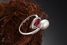 what's elegant pearl ring! Fine Jewelry  £16.99 -AMAZON.CO.UK