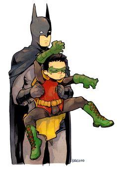 Batman and Damian Wayne
