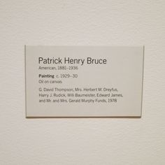 """Patrick Henry Bruce """"Painting"""" c.1929-30 Museum Of Modern Art, Museum Of Fine Arts, David Thompson, Museum Exhibition, Typo, Letter Board, Oil On Canvas, Peeps, Cards Against Humanity"""