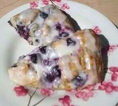 Blueberry scones w/lemon glaze...awesome made them