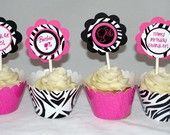 Barbie Cupcake---i love this with the zebra?