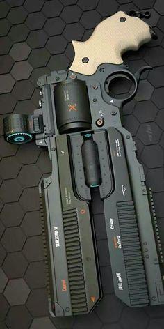 Rail gun revolver