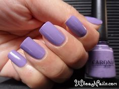 Caronia First Crush. Lovely Purple Nails