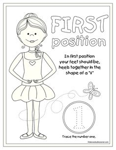 how to do ballet move pirpouette pictures for beginners as coloring sheet with… Ballerina Coloring Pages, Dance Coloring Pages, Colouring Pages, Coloring Sheets, Teach Dance, Dance Camp, Learn To Dance, Ballet Crafts, Dance Crafts