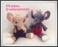 Pattern to Buy - Baby elephant crochet pattern ( Eng anleitung ) von Suwannalovecraft auf DaWanda.com
