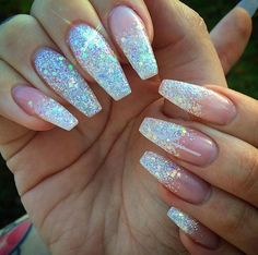 This series deals with many common and very painful conditions, which can spoil the appearance of your nails. SPLIT NAILS What is it about ? Nails are composed of several… Continue Reading → Trendy Nails, Cute Nails, My Nails, Glittery Nails, Silver Nails, Nails With Glitter Tips, Glitter Ombre Nails, Coffin Nails Glitter, Pretty Nail Designs