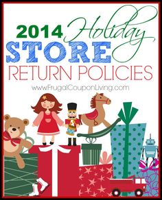 2014 Store Return Policies and Customer Service Contacts on Frugal Coupon Living. Phone Number, Return Policy Information and Website Connection.