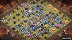 Copy Base [Town Hall 13] TH13 War/Trophy/CWL base - v790 [With Link] [3-2020] - War Base - Clash of Clans | Clasher.us Supercell Clash Of Clans, Clan Castle, Trophy Base, Smart Strategy, Most Played, Main Theme, All Wall, Town Hall, Layout Design
