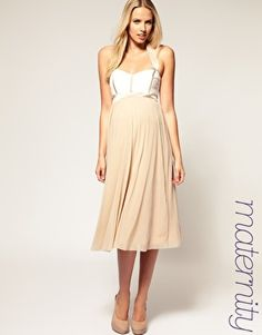 ASOS Maternity Halter Midi dress With Seamed Lace  $91.48, beautiful dress for this summer!