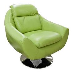 Green Bonded Leather Miami Chair #Chair #Green
