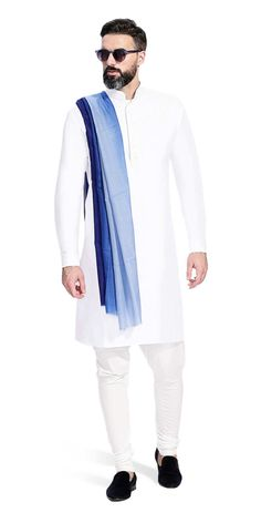 Gurhkan Blanc Nothing signifies luxury like a crisp, well-tailored, hand embroidered, white Kurta. Made to your specifications, this is a wardrobe essential.