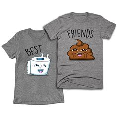 Best Friends Toilet Paper and Poop T-shirts